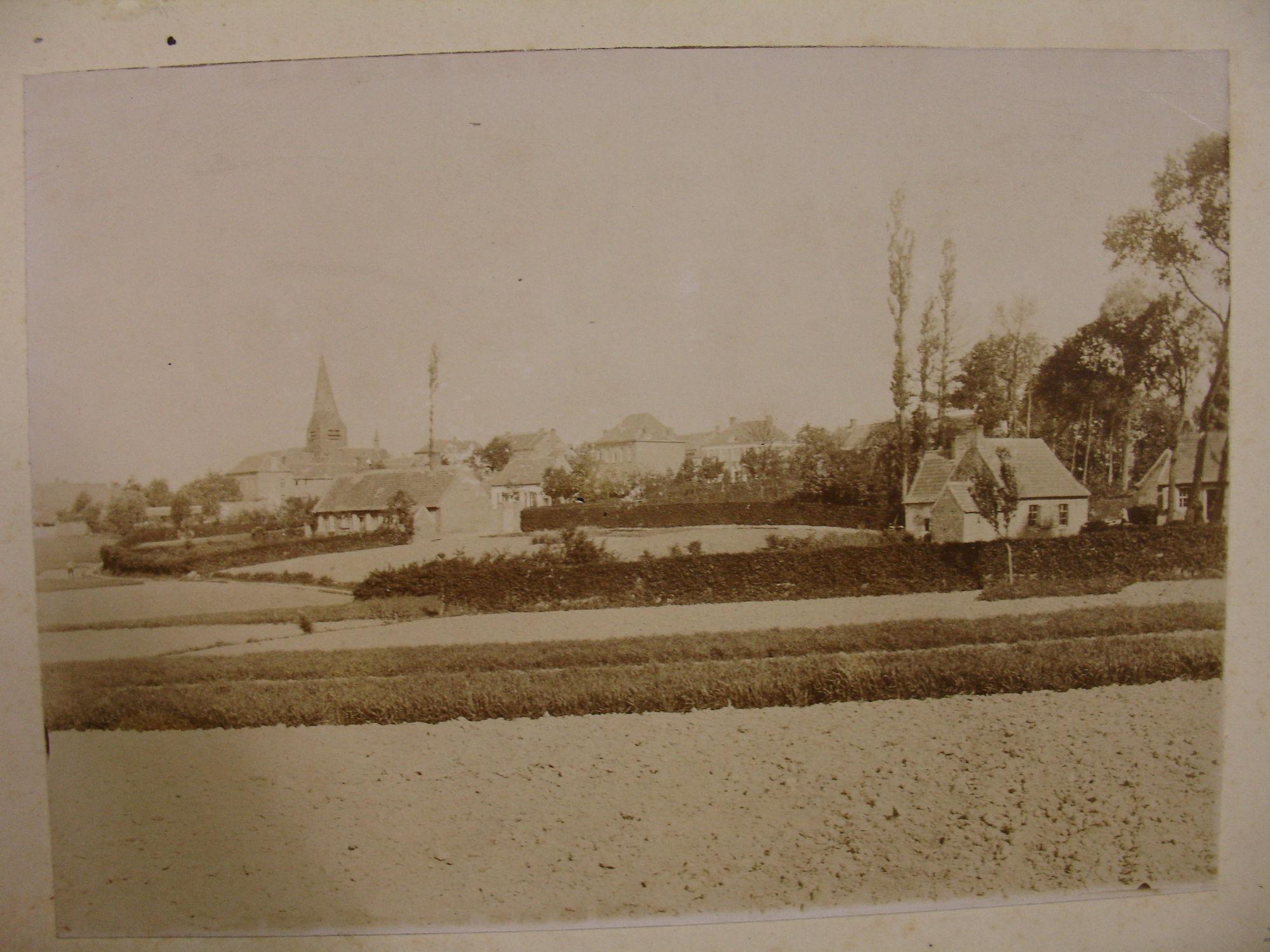 Zicht op de dorpskern van Bellegem