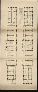 Bouwplannen voor de inrichting van een nieuwe Rijksmiddelbare school in de gewezen kazerne te Kortrijk, 1926-1933