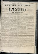 L'echo De Courtrai 1853-10-16