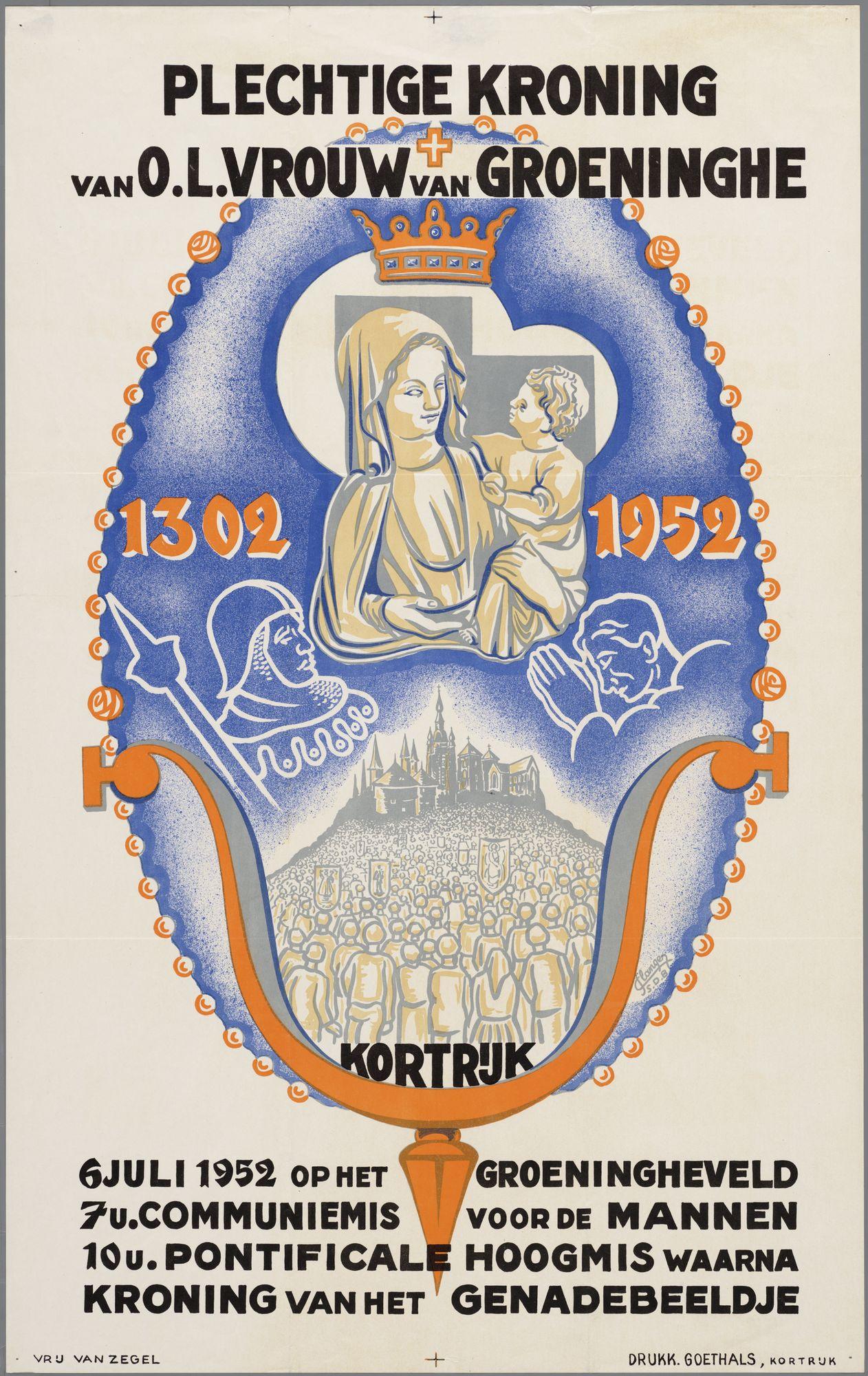 Kroning van O.L.Vrouw van Groeninghe 1302-1952