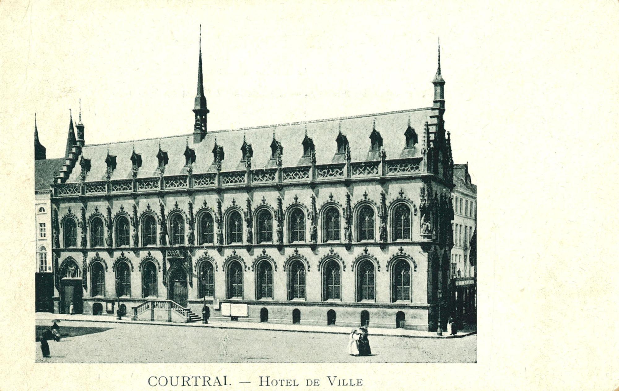 Stadhuis en Leiestraat