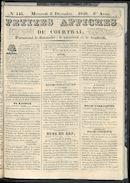 Petites Affiches De Courtrai 1840-12-02