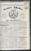 Petites Affiches De Courtrai 1837-05-21