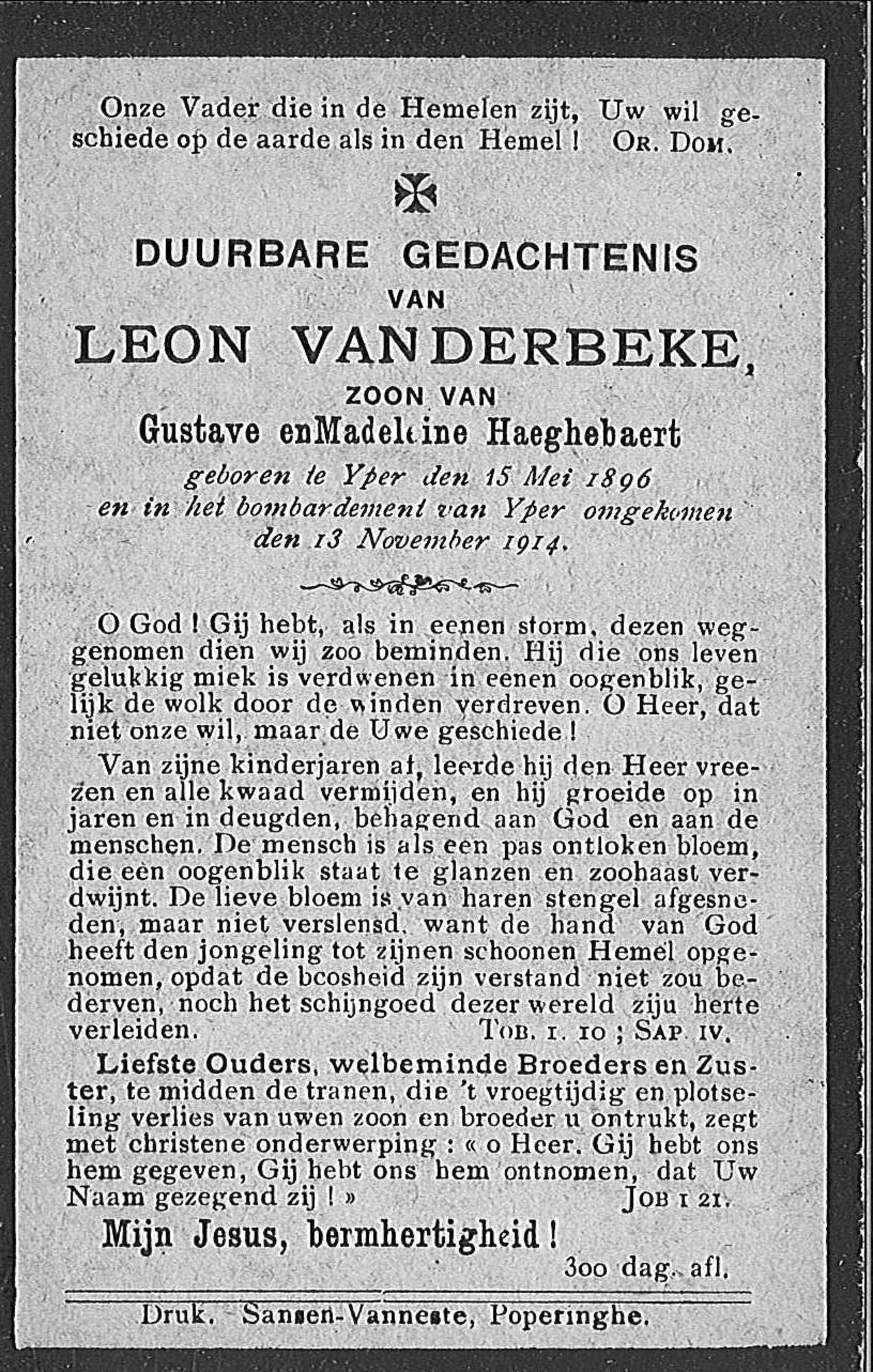 Leon Vanderbeke