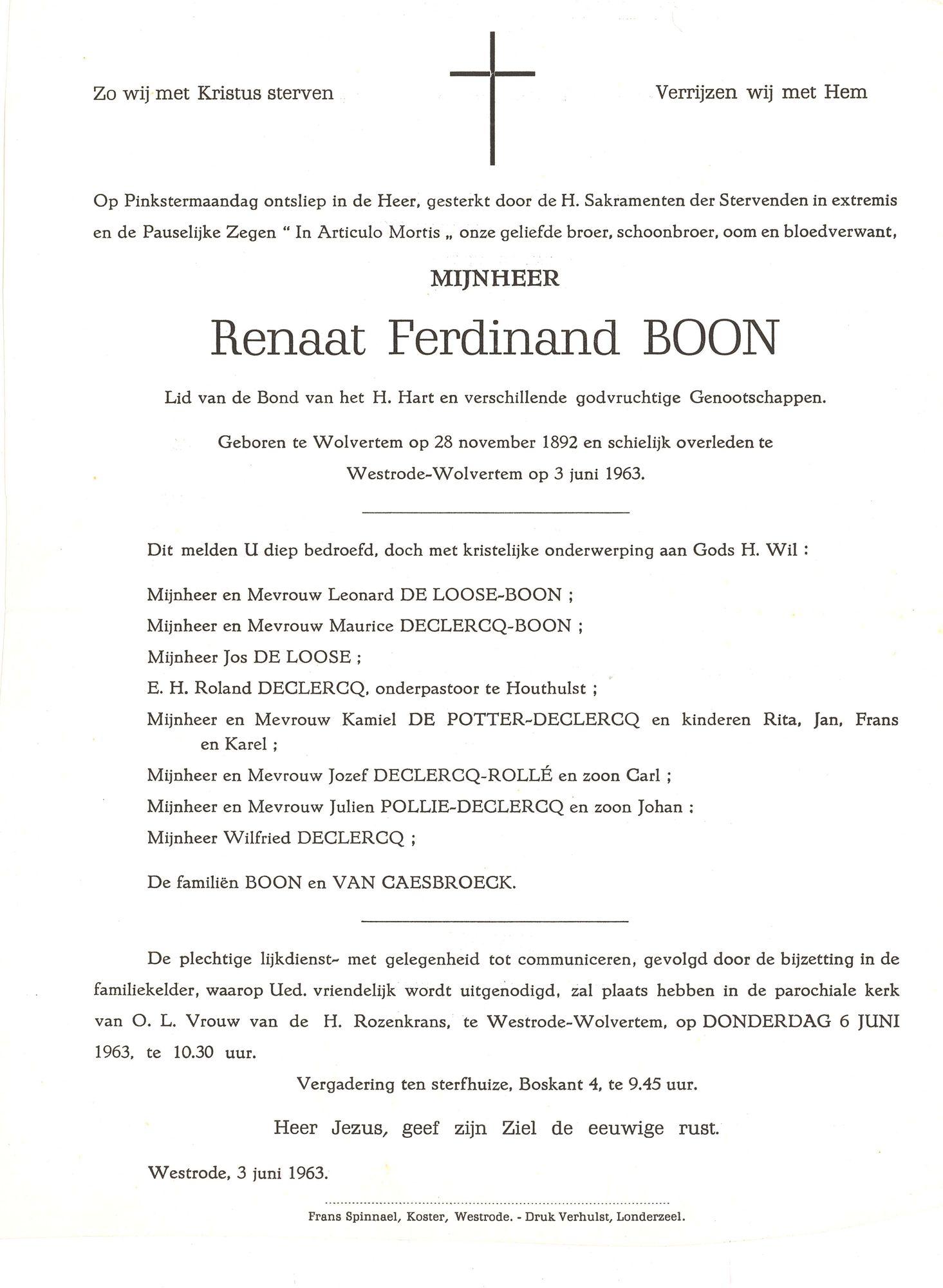 Renaat Ferdinand Boon