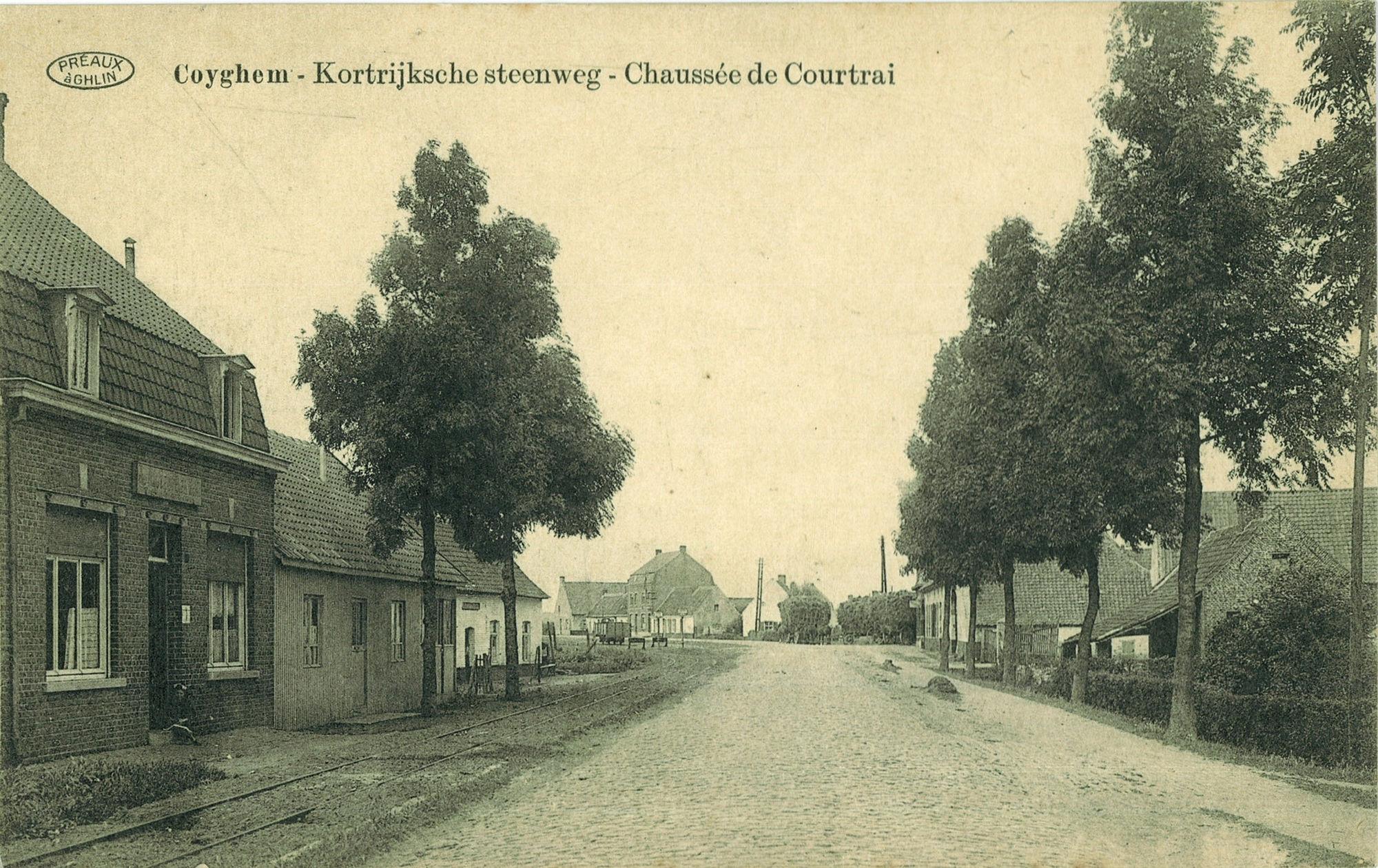 Kortrijksesteenweg in Kooigem