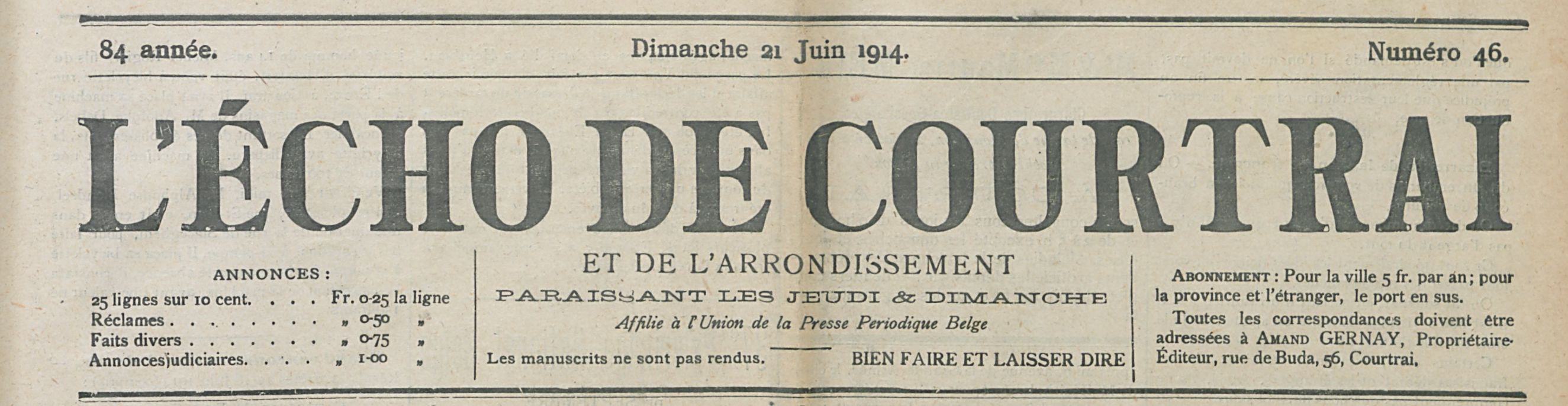L'ECHO DE COURTRAI