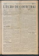 L'echo De Courtrai 1914-08-02 p1