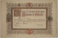 Westflandrica - Diploma, Michiel English, Universiteit St.-Louis