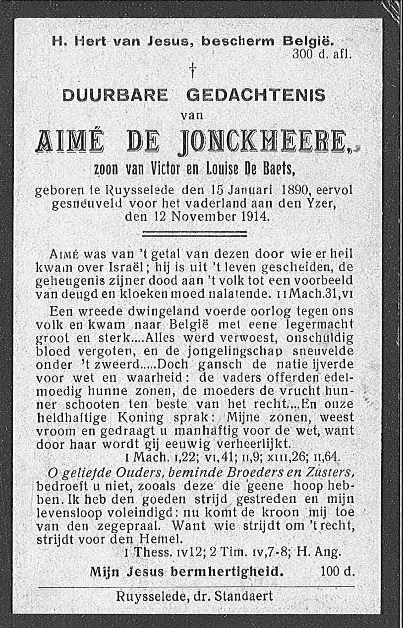 Aimé De Jonckheere