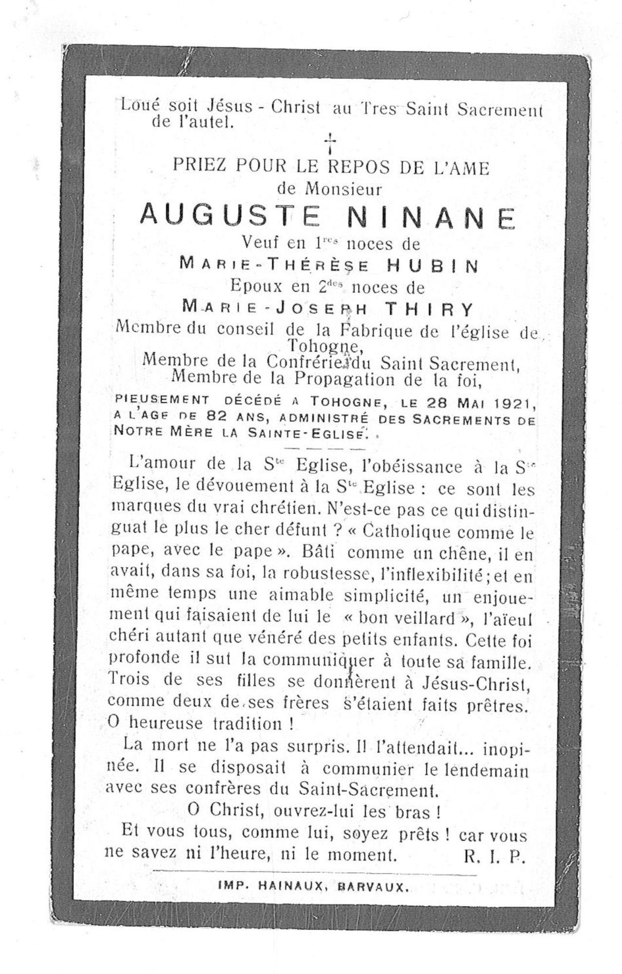 Auguste Ninane