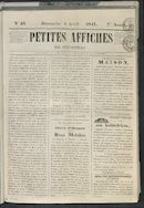Petites Affiches De Courtrai 1841-04-04