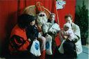 Sinterklaas in de Kredietbank in de Leiestraat