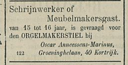 Schrijnwerker of Meubelmakersgast