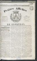 Petites Affiches De Courtrai 1837-04-13 p1