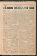 L'echo De Courtrai 1890-02-20 p1