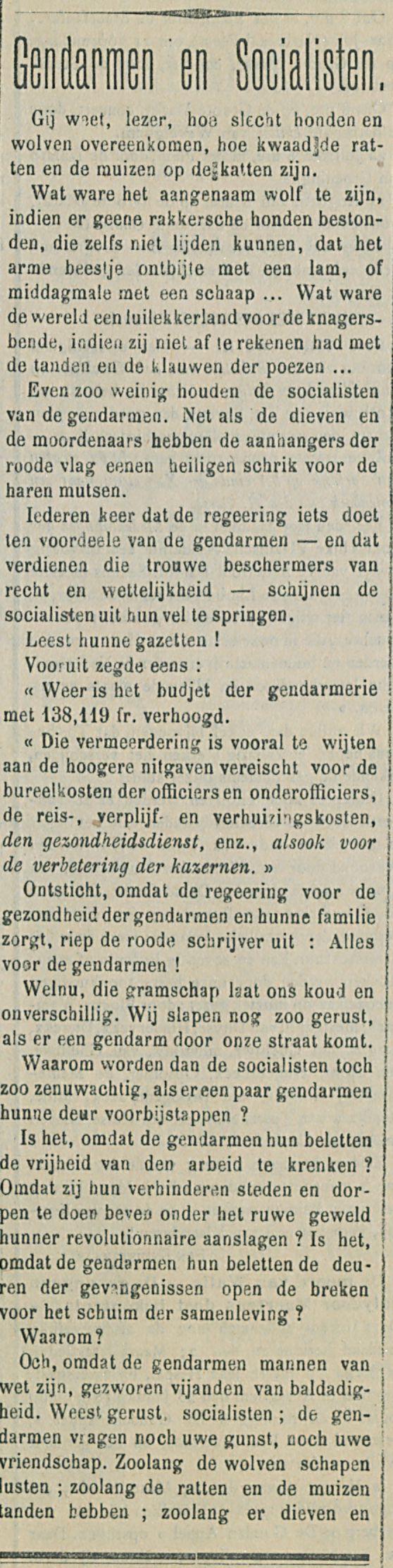 Gendarmen en Socialisten