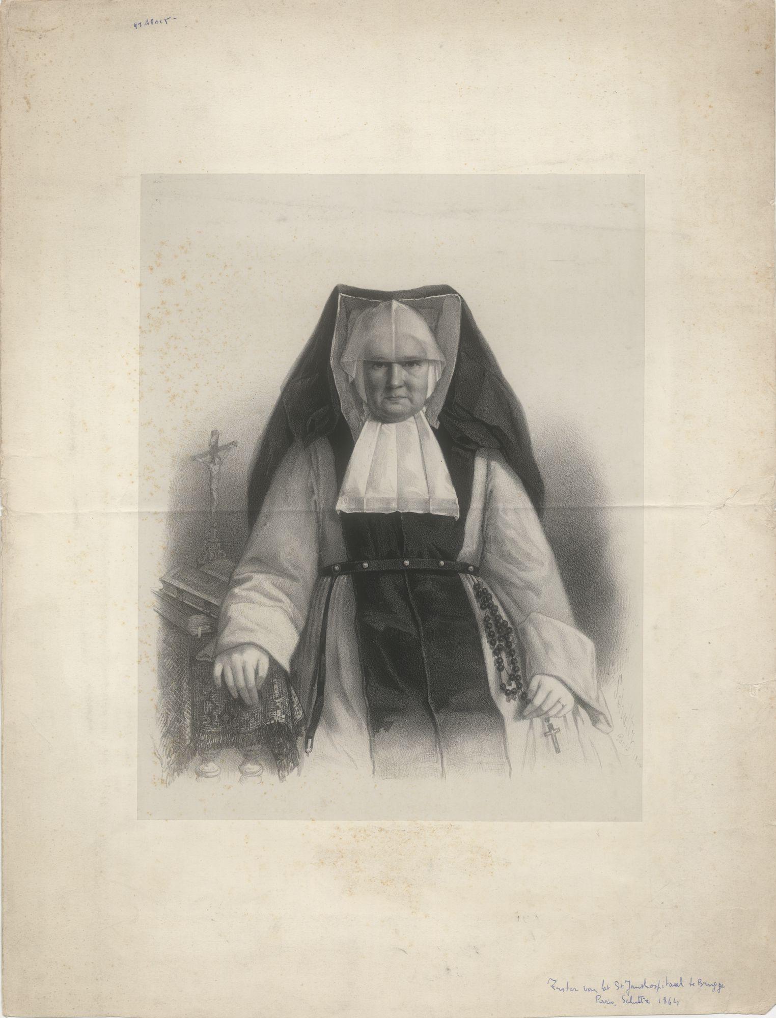 Westflandrica - portret van een zuster uit het Brugse Sint-Janshospitaal