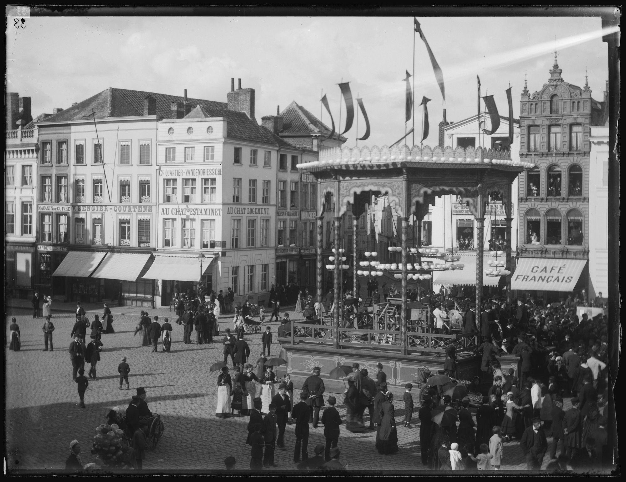 Turnfeest op de Grote Markt in 1882