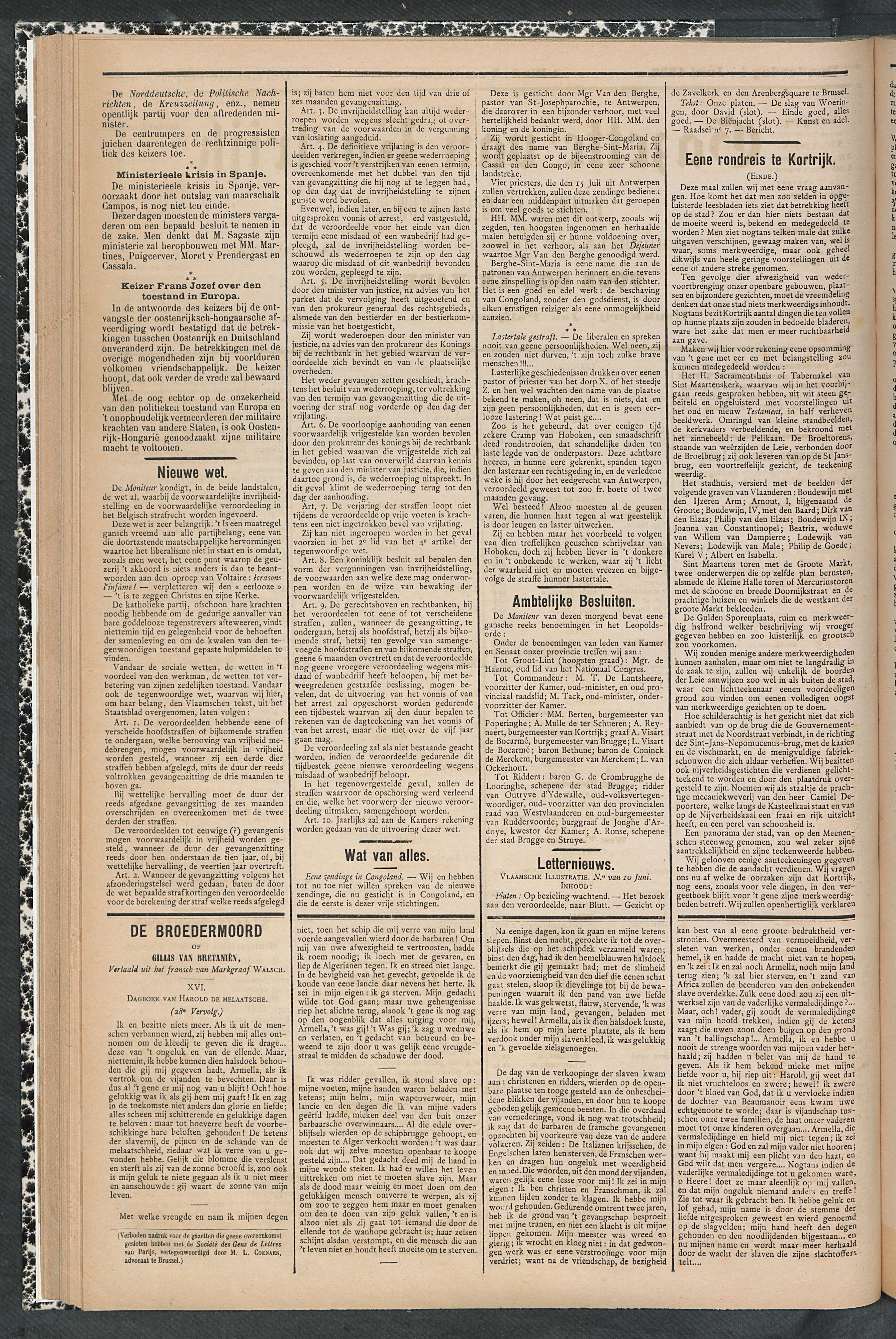 Gazette Van Kortrijk 1888-06-14 p2