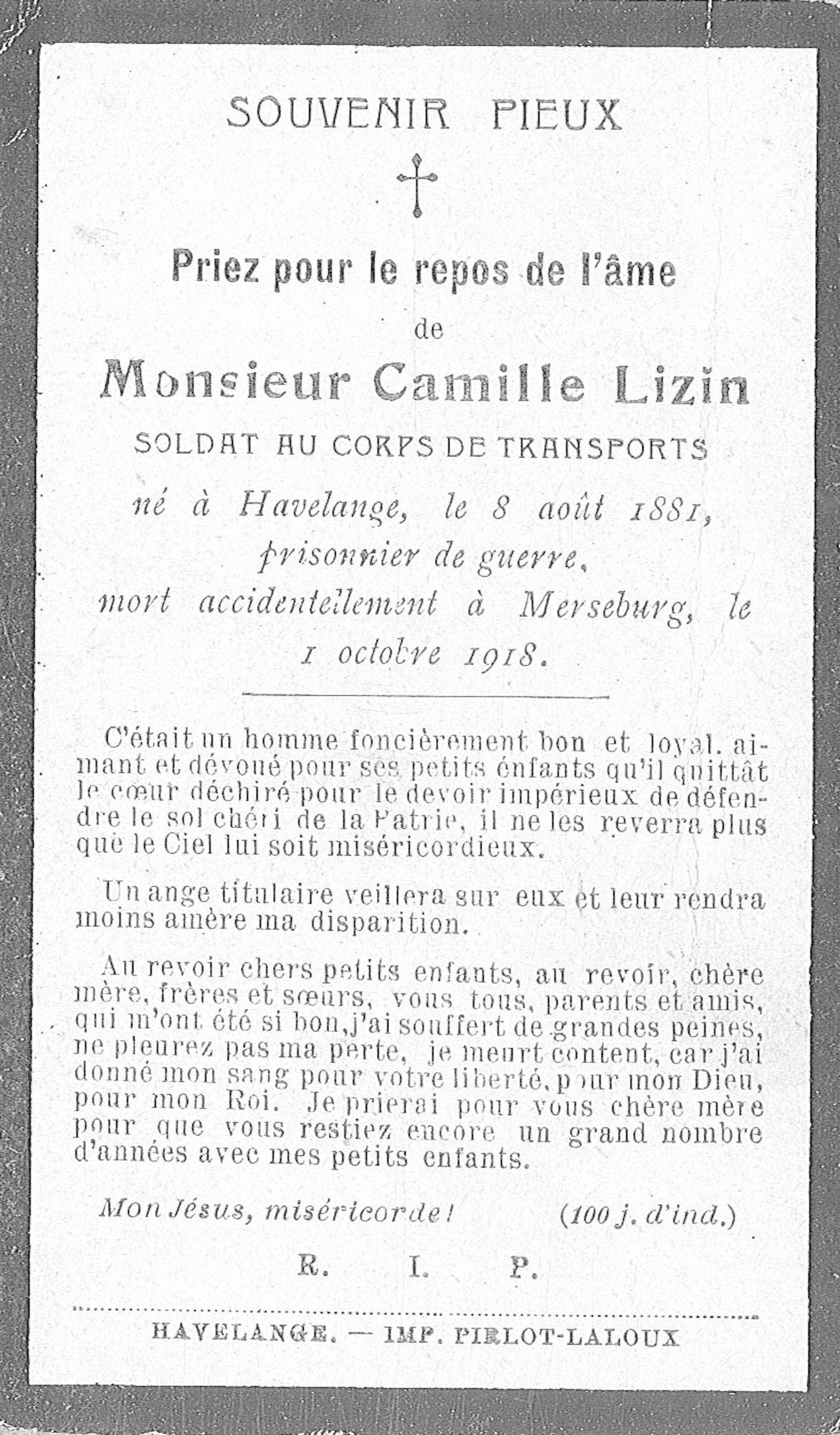 Camille Lizin