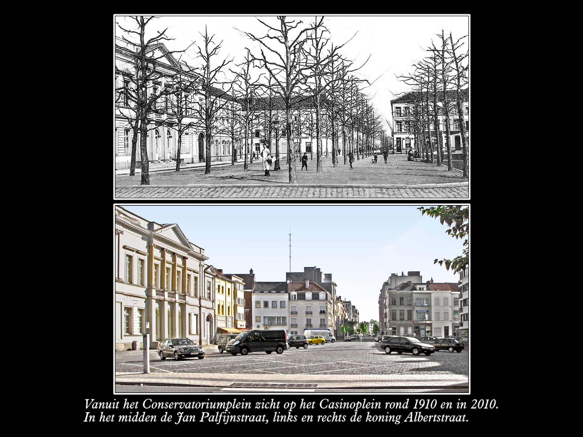 Casinoplein ca 1910 en  2010
