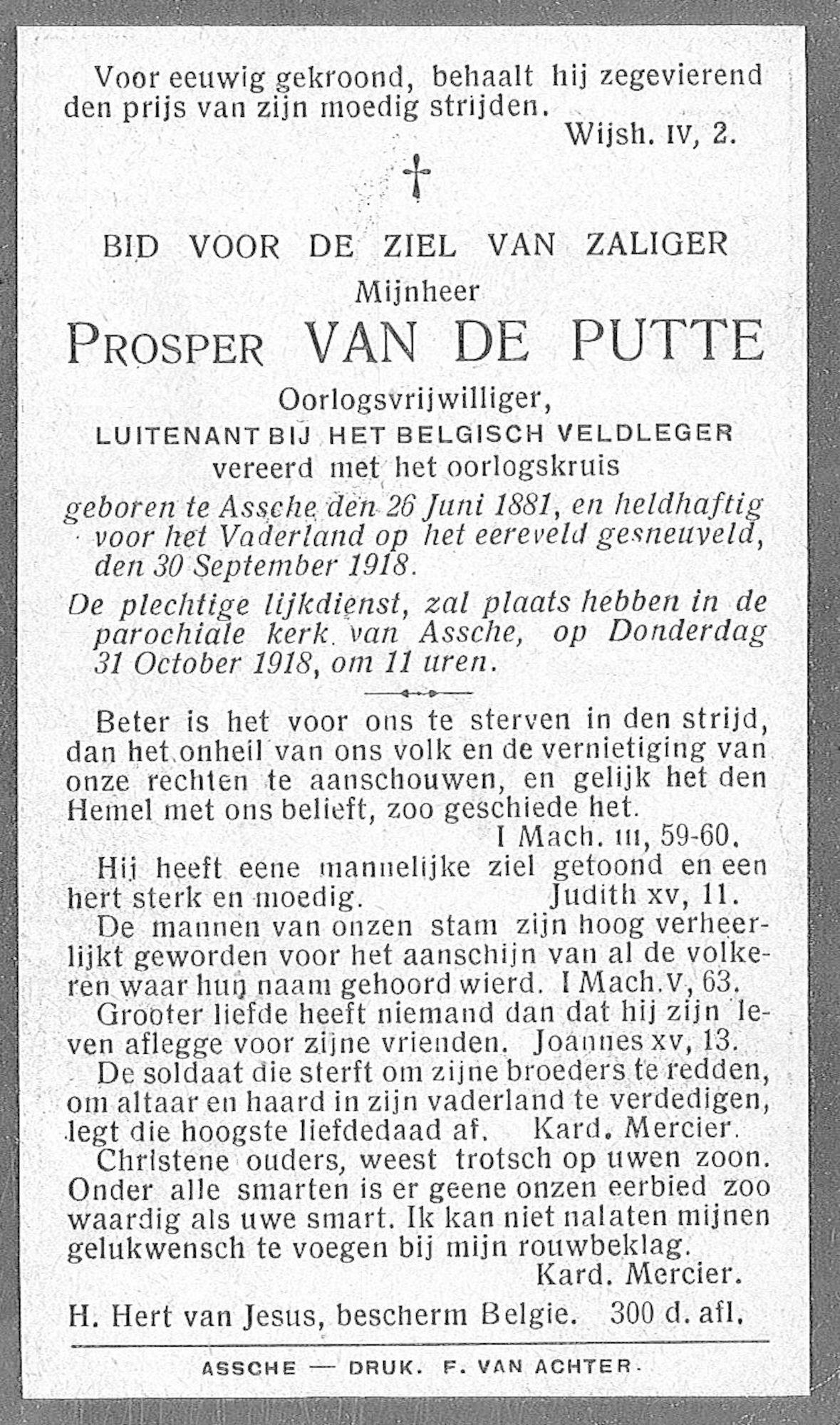 Prosper Van De Putte