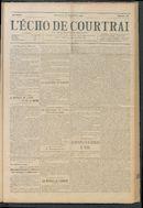 L'echo De Courtrai 1914-09-27