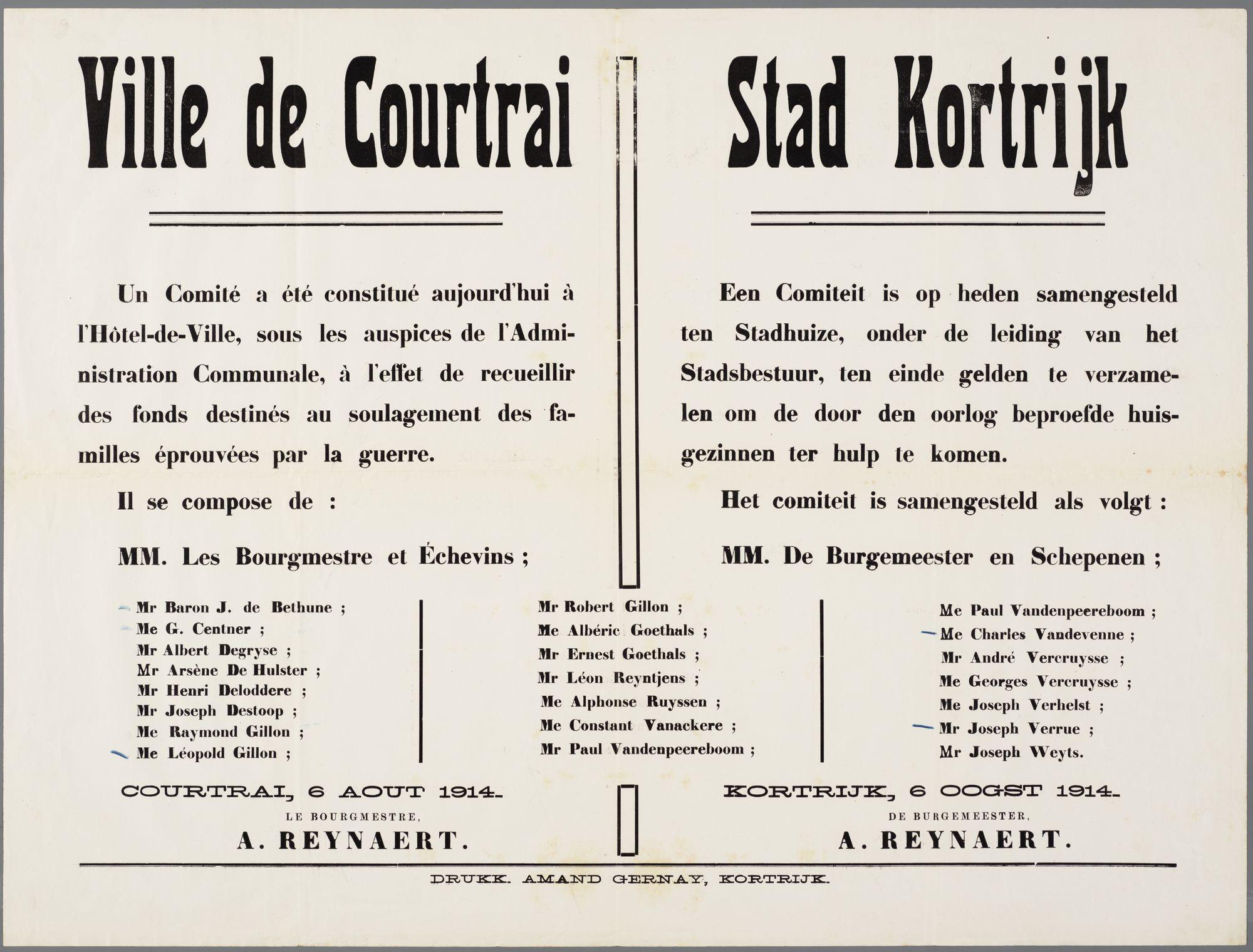Oorlogsaffiche 1914