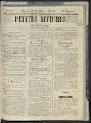 Petites Affiches De Courtrai 1841-06-11