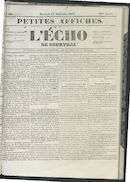 L'echo De Courtrai 1852-09-15