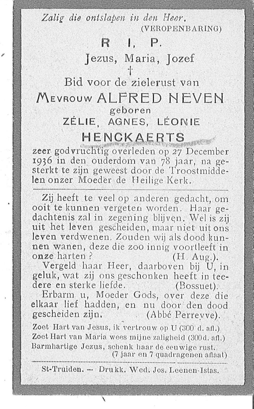 Zélie Agnes Léonie Henckaerts