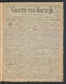 Gazette Van Kortrijk 1914-07-30