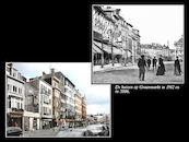 Graanmarkt 1912 en 2006