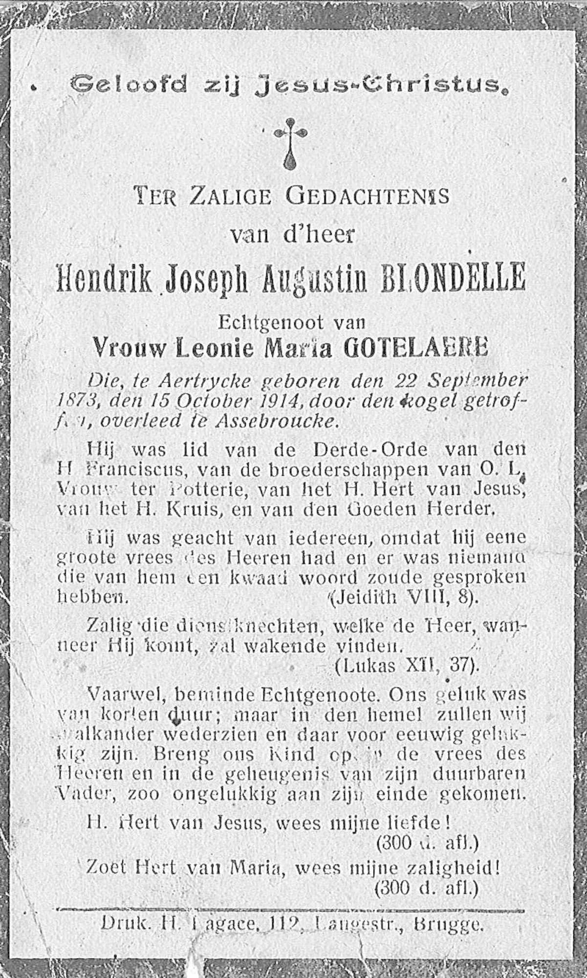 Hendrik-Joseph-Augustin Blondelle