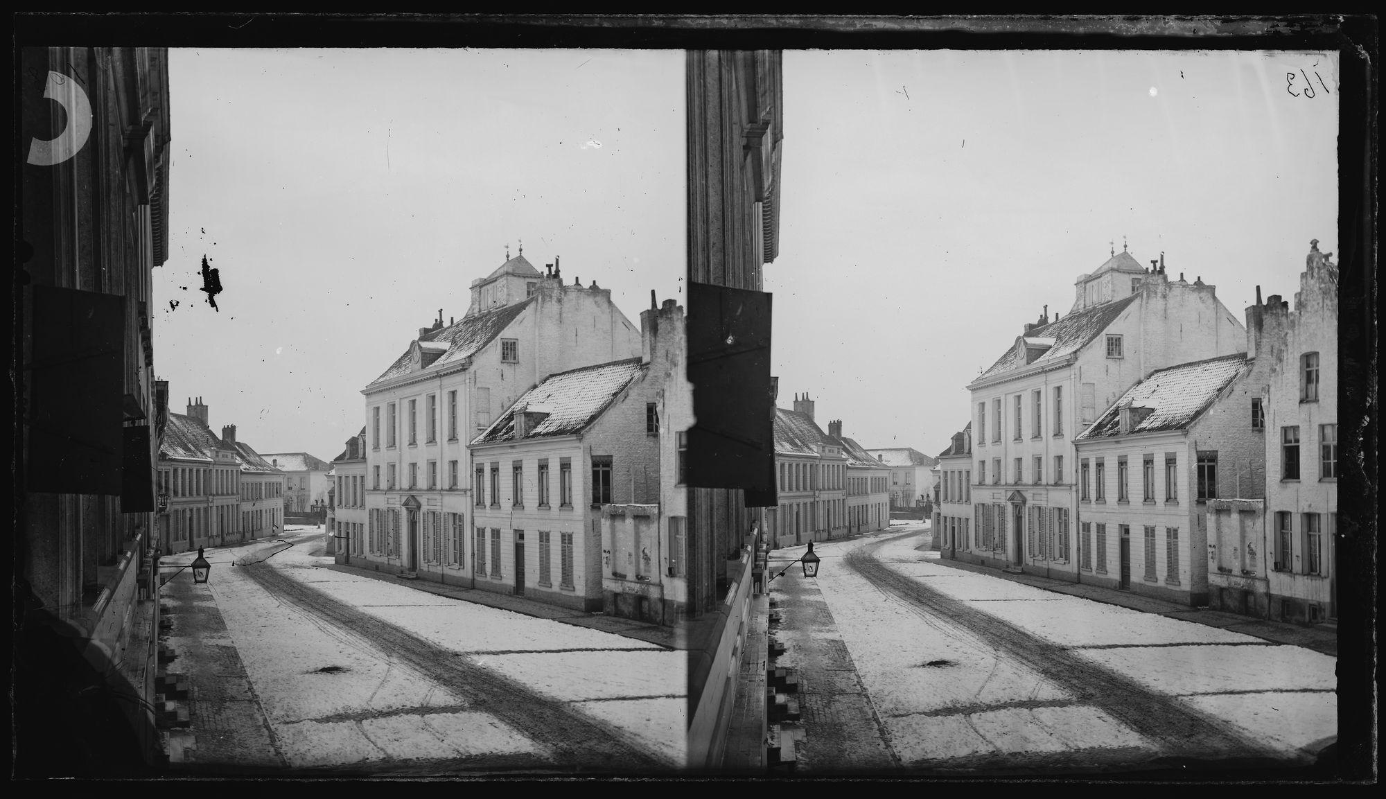 Rijselsestraat in de winter