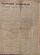 Kortrijksch Handelsblad 20 september 1946 Nr76 p1