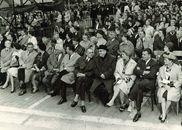 Eretribune tijdens het tweede Gulden Sporenspel in 1962
