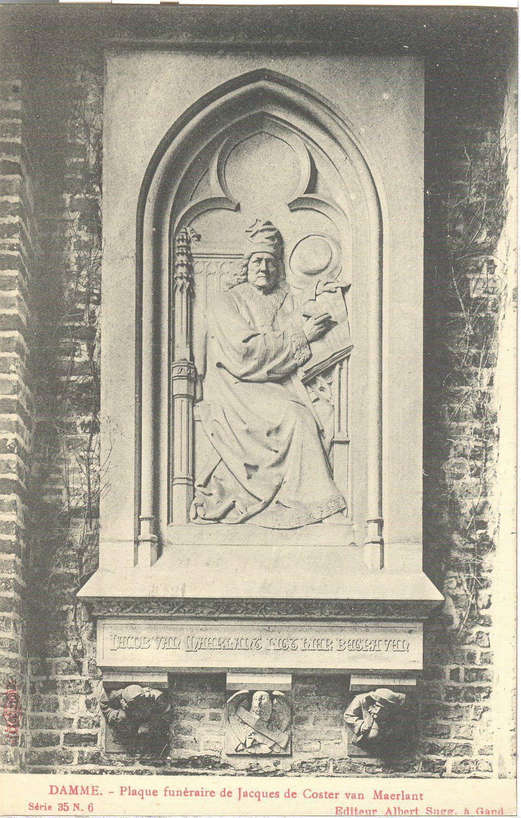 Westflandrica - grafmonument van Jacob Van Maerlant
