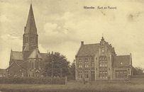 Kerk en pastorie van Marke
