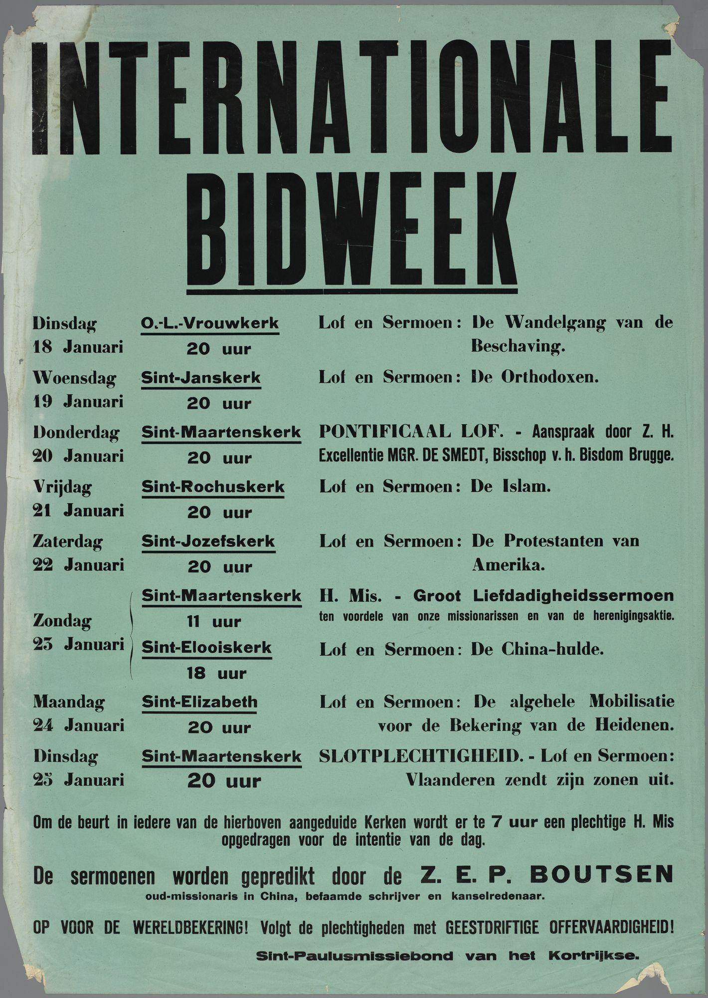 Internationale bidweek