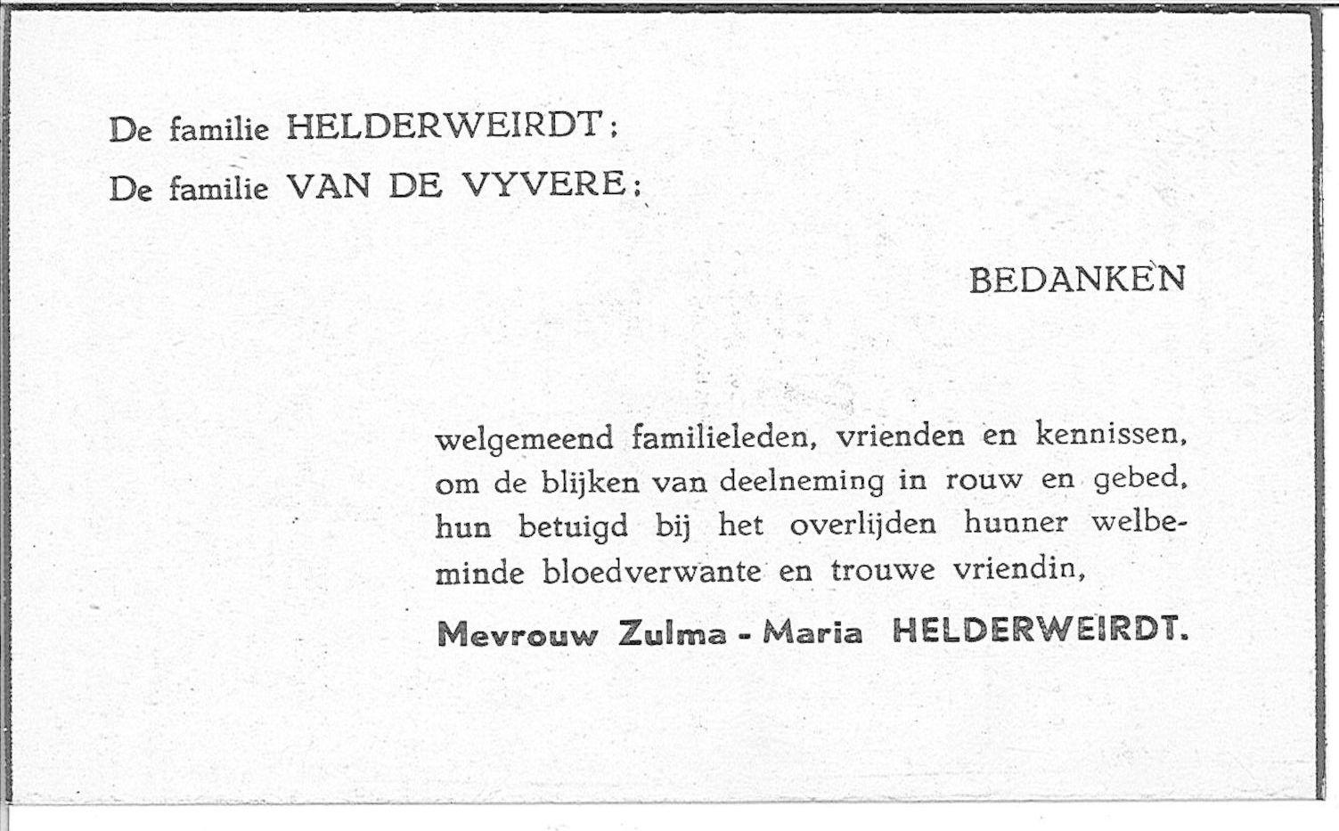 Zulma Helderweirdt
