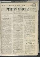 Petites Affiches De Courtrai 1841-04-21