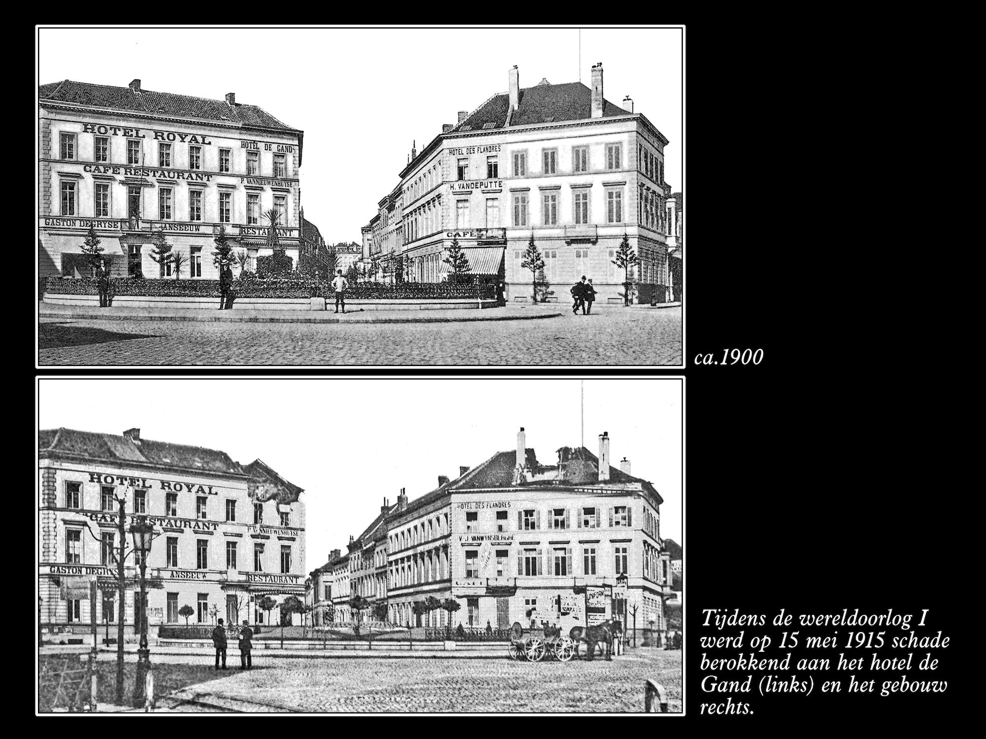 Stationsplein ca 1900 en 1915