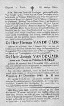 Herman Van De Gaer