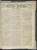 Petites Affiches De Courtrai 1841-07-25