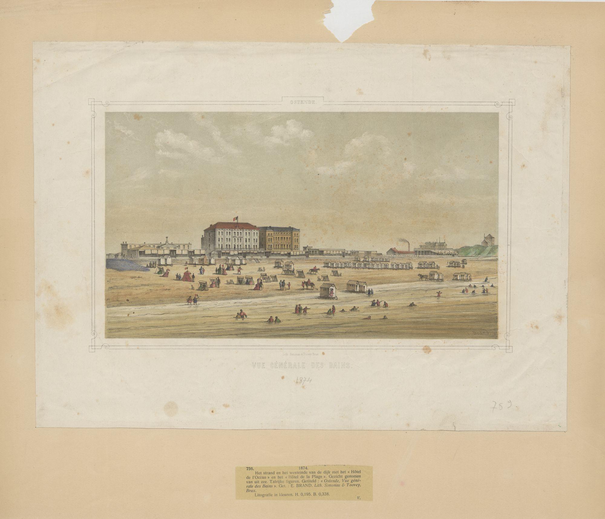 Westflandrica - Oostende, zicht op het strand en de dijk