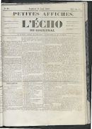 L'echo De Courtrai 1852-08-06