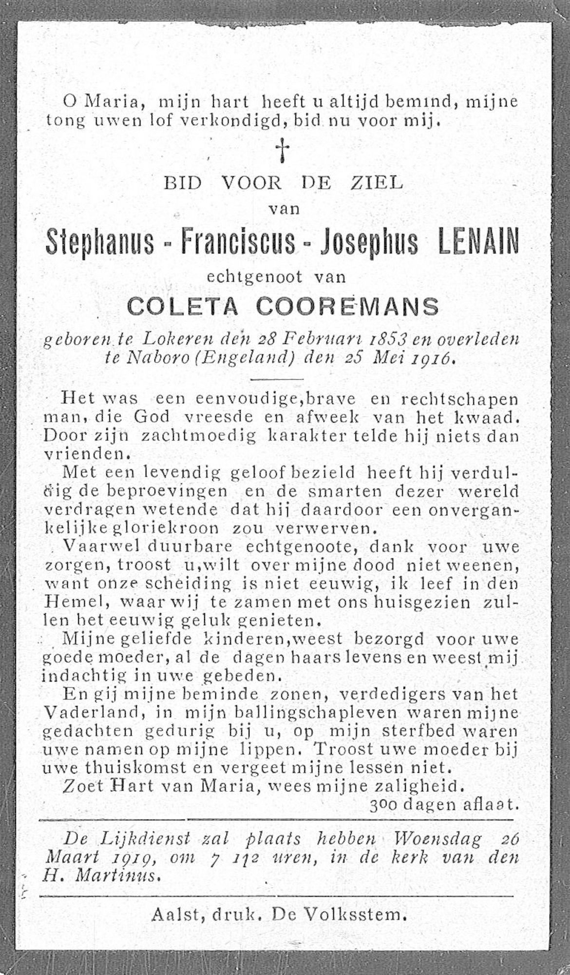Stephanus-Franciscus-Josephus Lenain