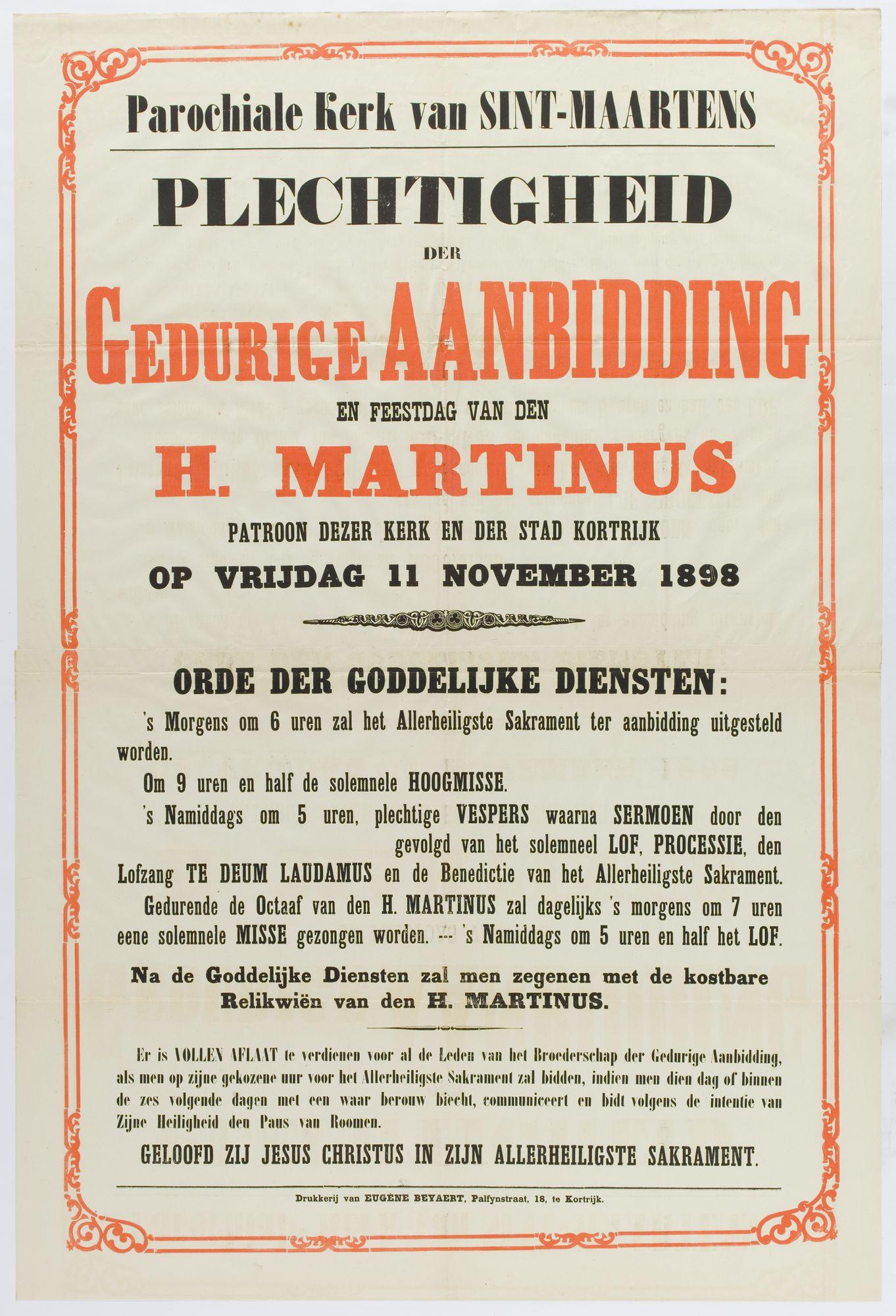 Plechtigheden Sint Maartenskerk 1898